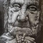 *Allison F. Old Woman, Graphite