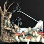 Arabella B. - Two Corpses, Watercolor, Gouache