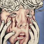 Arabella B. - Thorns, Color Pencil, Pen, Acrylic