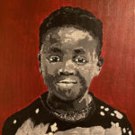 Boy With Red Lansing Refugee - Paint