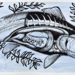 *Ava Y. - Fish Anatomy, Watercolor, Pen