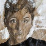 Claire P. -  Self Portrait, Charcoal