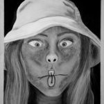 Felicia B., - Game Face, Charcoal