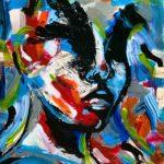 Lindiwie H. - Apstract Portrait, Acrylic