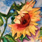 Summer Sunflower, Watercolor Grade 11  Ovid-Elsie High SchoolArt Teachers: Mrs. Weber & Mrs. Shadbolt