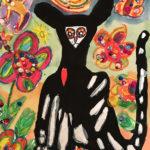 Jolly B. Gr. 7 - Dios de la Muertos Cat, Watercolor