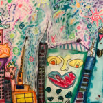 Mihret B. Gr. 1 - Crazy Town, Mixed Media