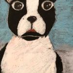 Ella C. Gr. 6 - Dog Staring into Your Soul, Oil Pastel