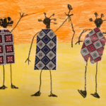 Malaki K. Gr. K - African Kings, Color & Cut Paper