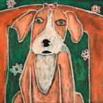 Judy F. Gr. 5 - Pit Bull, Oil Pastel