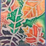 Reese S. Gr. 3 - Fall Batik, Wax, Dye, Cotton