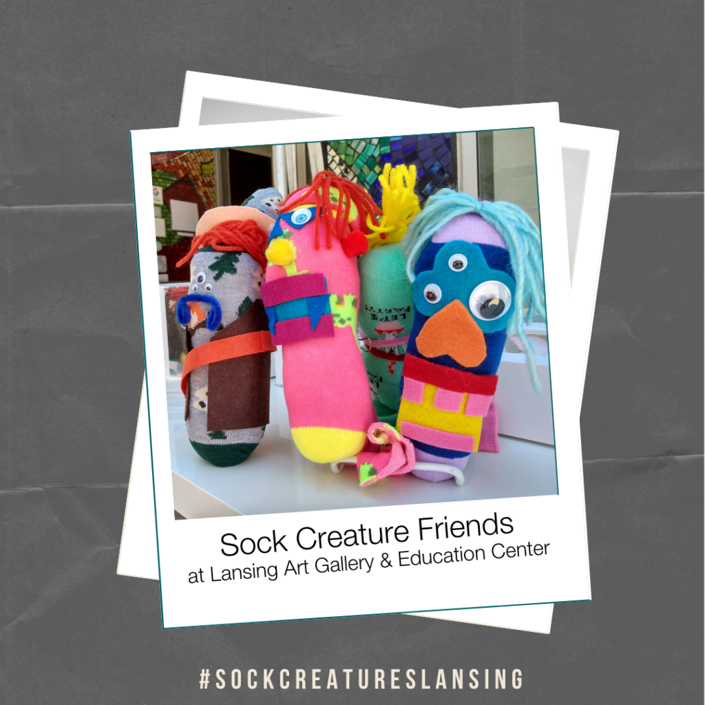 """Sock Creature Friends"" By Lansing Art Gallery & Education Center"