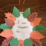 Example of the Give Thanks Wreath Project