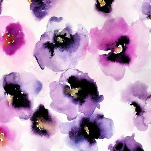 Watercolor Pansies by Michelle Detering