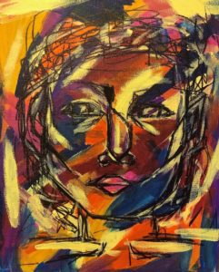 "Drawingin of a face ""Colorful Person"" Gwenna Z"